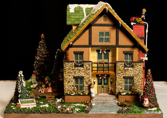 Tudor Revival Style Gingerbread House.