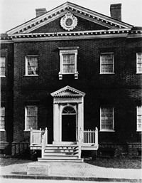 Early 20th century view of the Hammond Harwood House