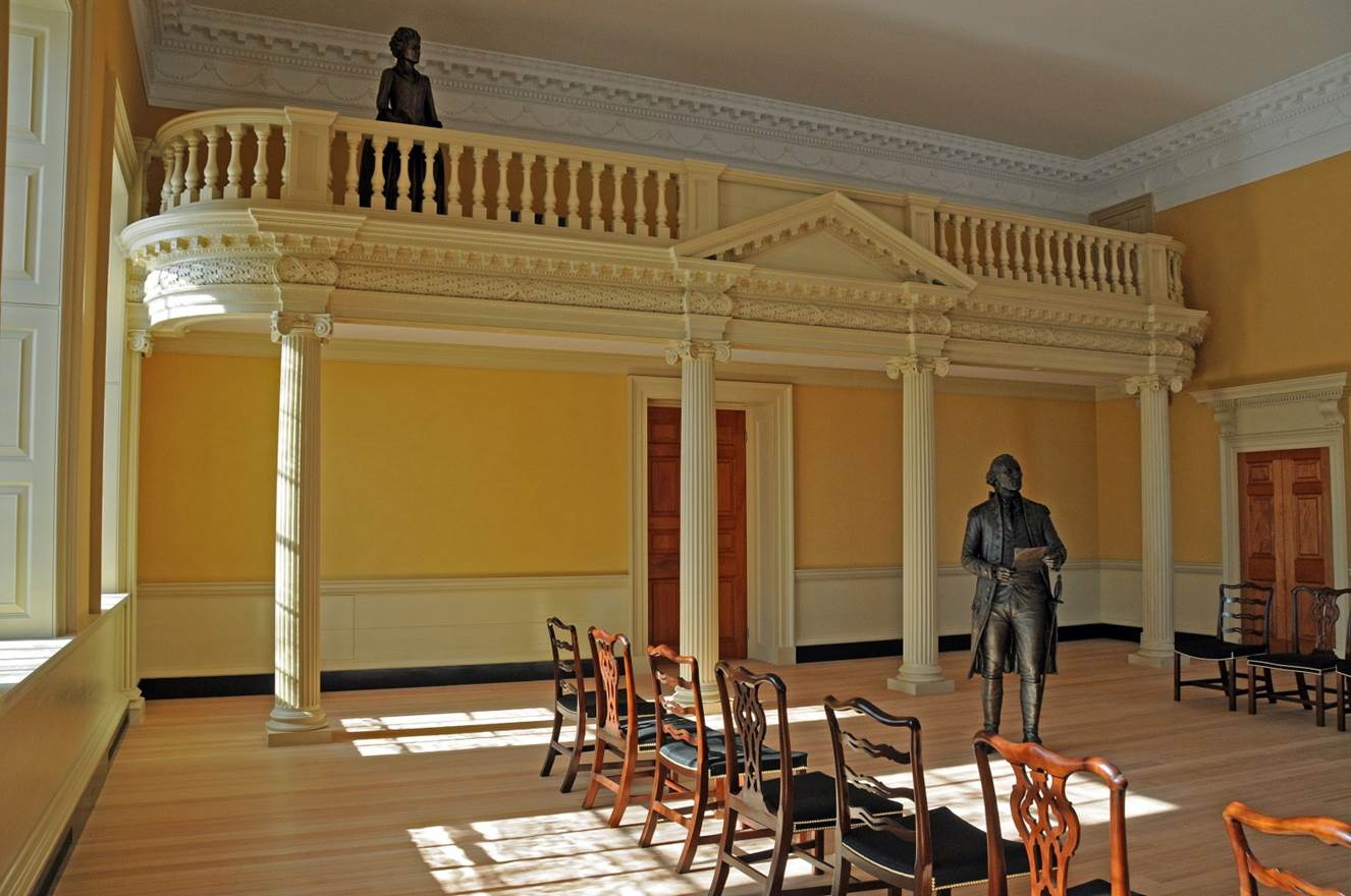 Maryland's restored Old Senate Chamber