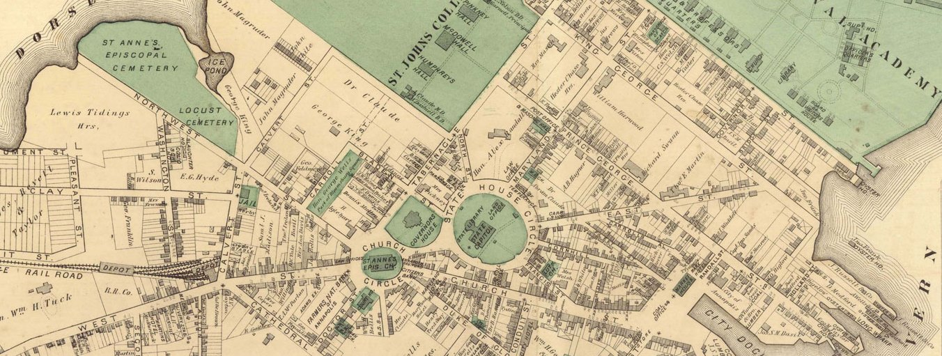 Map of downtown Annapolis, ca. 1878