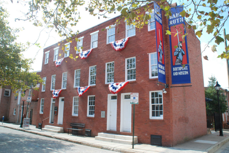 Babe's childhood home, now the Babe Ruth Museum in Baltimore.