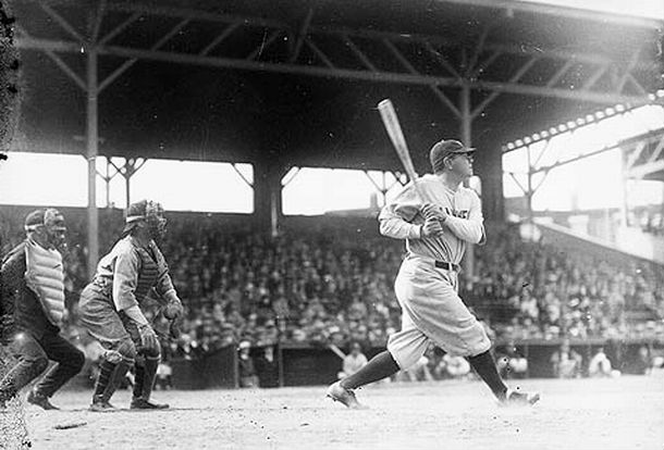 Babe Ruth, as a Yankee, plays the Orioles, 1931.