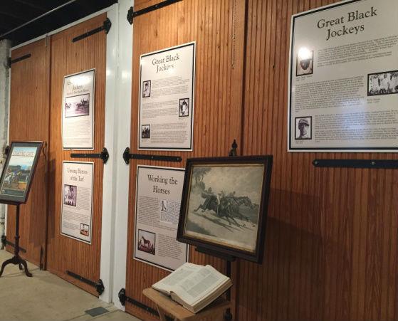 Great Black Jockey exhibit at the Belair Stables.