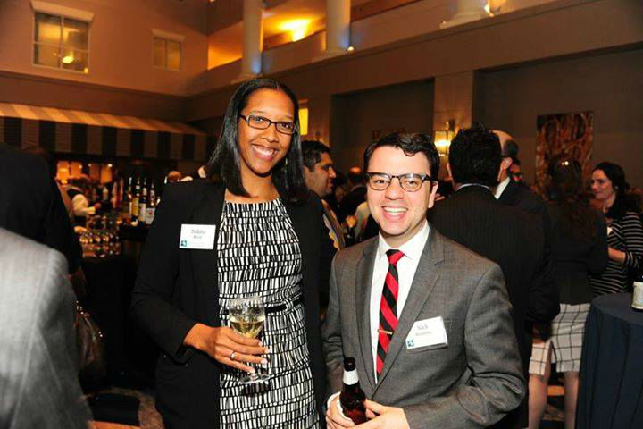 Nakita Reed and Nick Redding at a reception for the Maryland League of Conservation Voters, 2016.