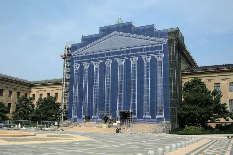 Philadelphia Museum of Art during renovations. Photo by Videtta Architecture.