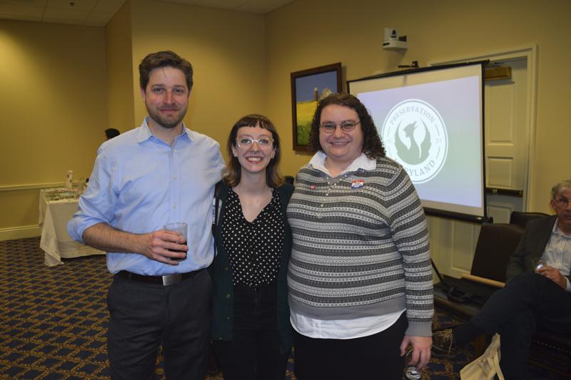 Board President, Tony Azola, with Michelle Eshelman and Sarah Meyers.