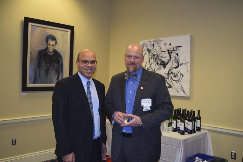 Delegate Al Carr with Board Member, Mat Daw, 2017.