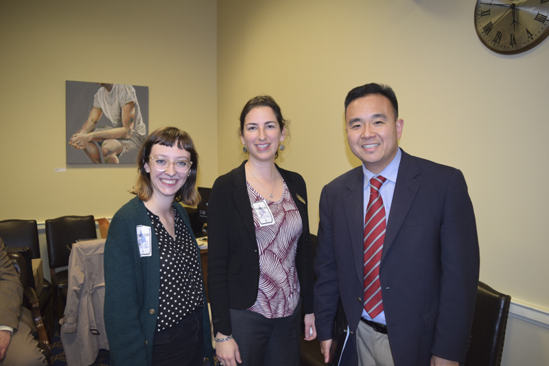 Delegate Chang with our Ellicott City Team, Michelle and Renee.