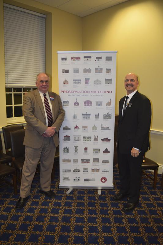 Delegate Dan Morhaim with Doug Harbit, Development Director.