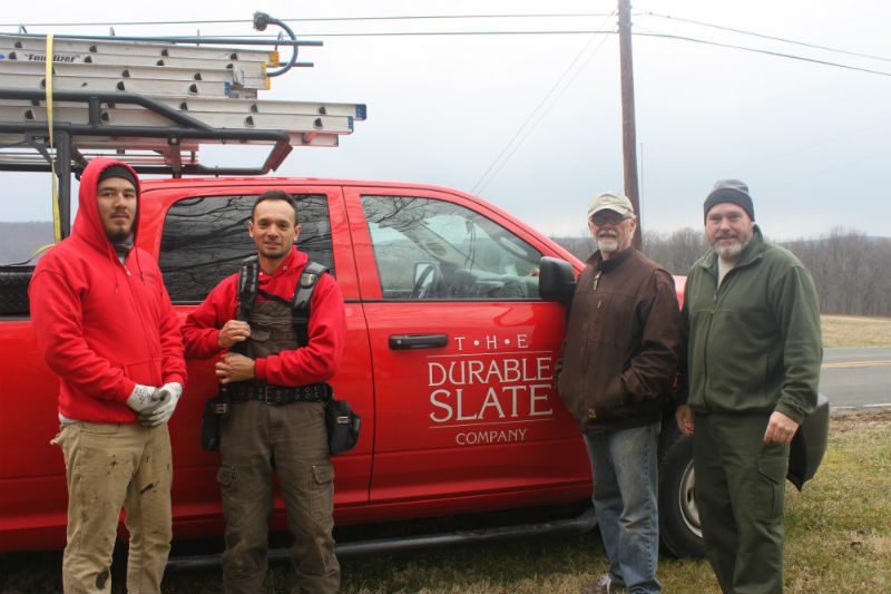The Durable Slate team along with members of the Burkittsville Preservation Association.