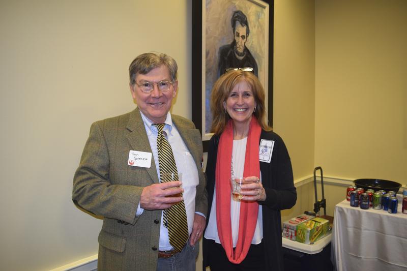 Board Member Tom Spencer with Nancy Easterling of Sotterley.