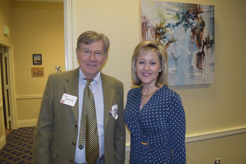 Secretary of Planning, Wendi Peters, with Board Member, Tom Spencer.