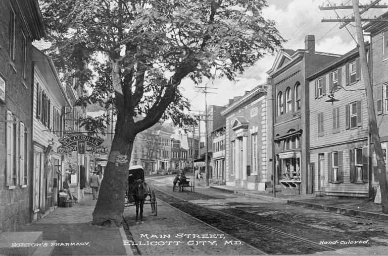 Main Street, Ellicott City, Ca. 1890, Library of Congress