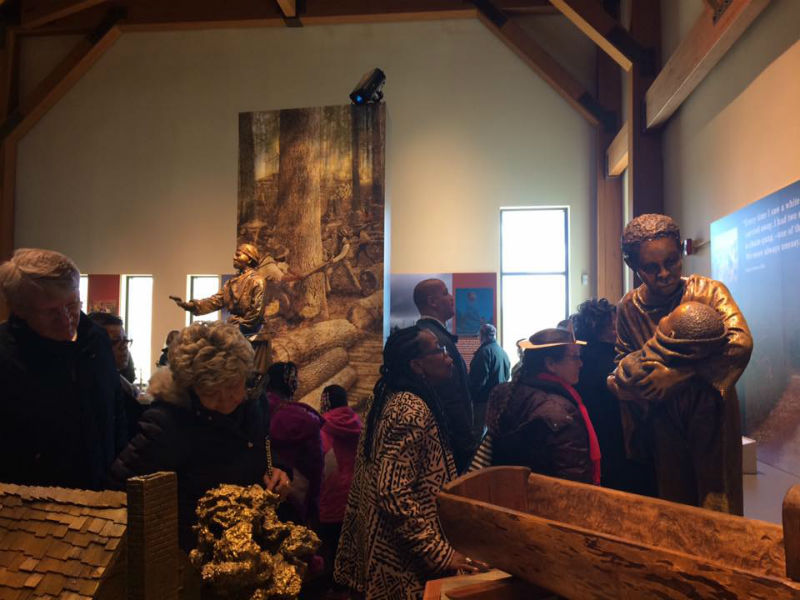 Exhibits at the Tubman Visitor Center, 2017. Photo by Auni Gelles.