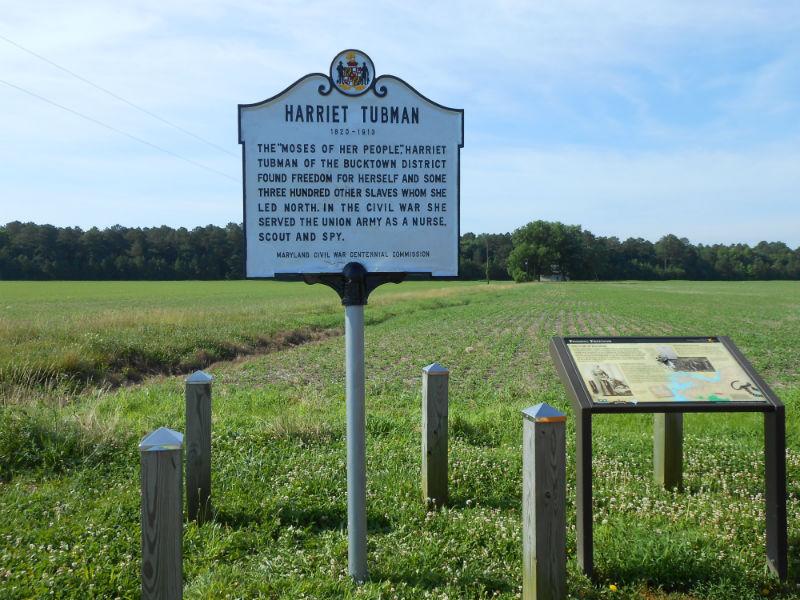 Harriett Tubman highway marker near Buckstown, 2014. Photo from Maryland State Highway Administration.