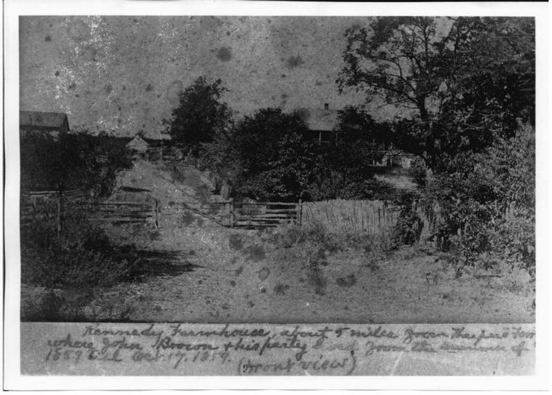 Historic image of the Kennedy Farm House. Photo from Maryland Historical Trust.