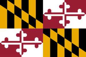 State flag of Maryland.
