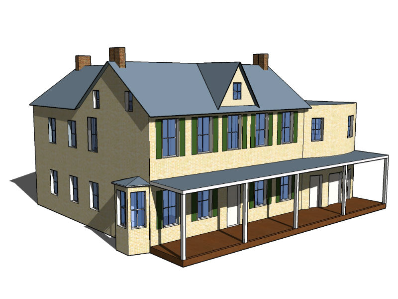 SketchUp model of Shafer Farm by Michelle Eshelman.