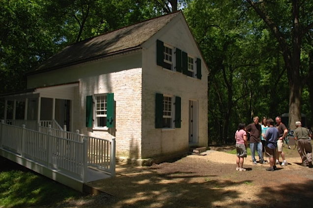 Image of the Canal Quarters, a program that allows visitors to stay in historic lockhouses across the C&O Canal National Historical Park