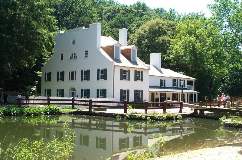 Great Falls Tavern, now the C&O Canal visitor center. Photo from the National Park Service.