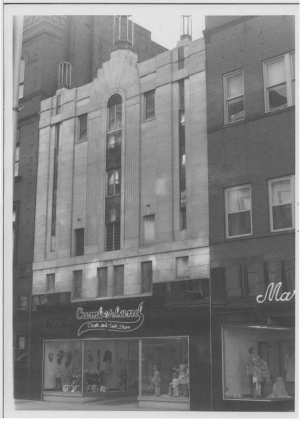 Cumberland Cloak & Suit Store building, 1974. Photo from Maryland Historical Trust.