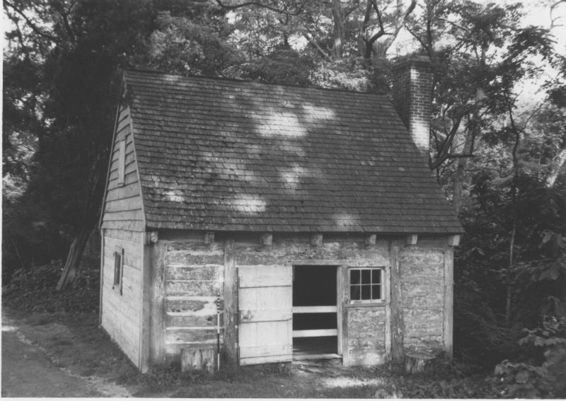 Slave quarters on Sotterley Plantation. Photo from the Maryland Historical Trust.
