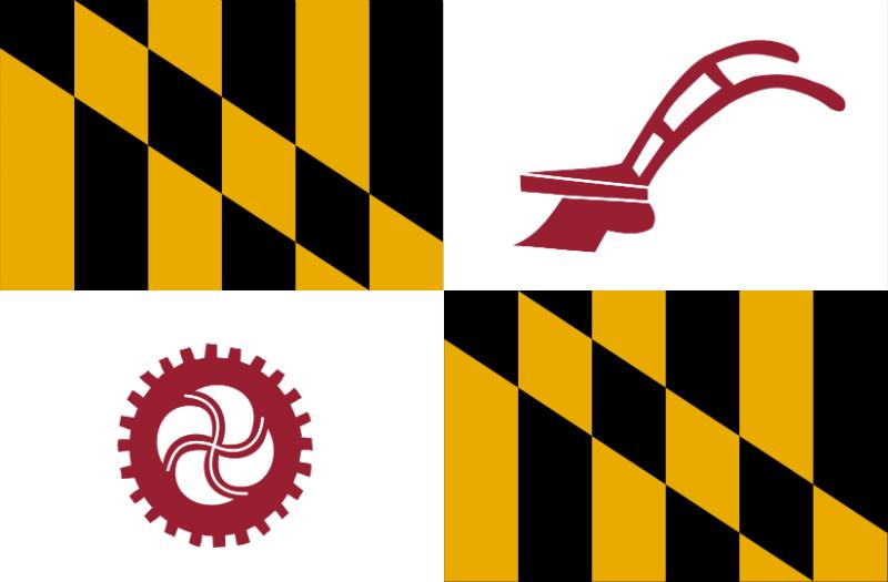 Flag of Baltimore County, Maryland.