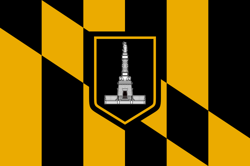 Flag of the City of Baltimore, Maryland.