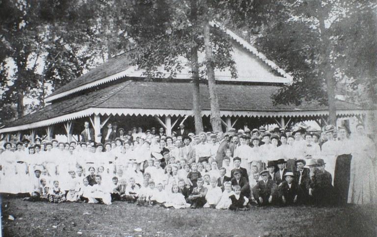 Smith Island Camp Meeting, circa 1910.