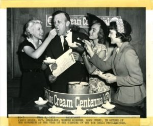 Baltimore Ice Cream Centennial in Baltimore hosted by Gov. McKeldin, 1951. Photo from the Jewish Museum of Maryland.