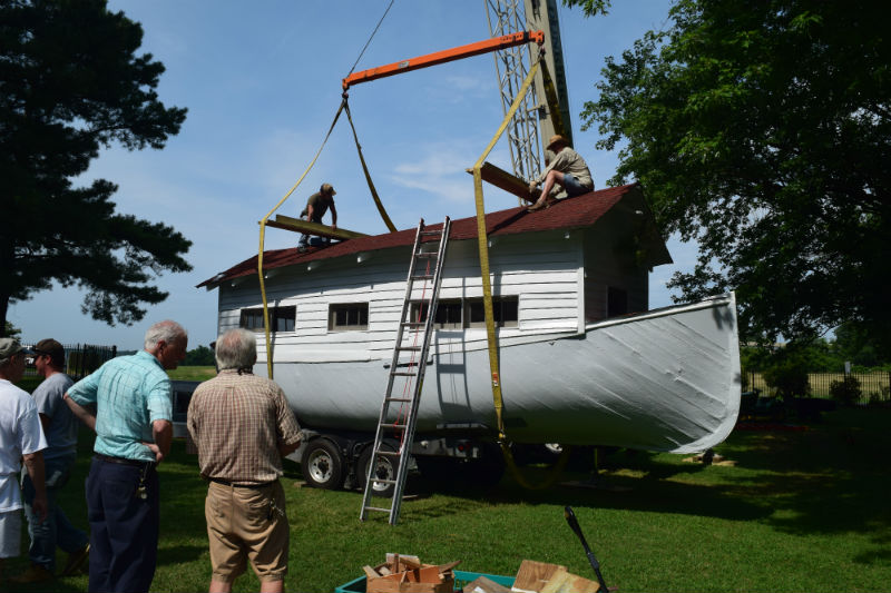 The Ark was moved to the Calvert Marine Museum, 2017.