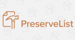 preservelist logo