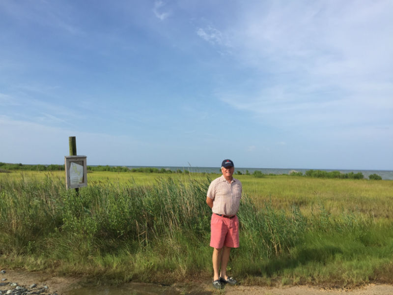 Jeff Caslow in the historic marsh landscape of Dorchester County, 2017.