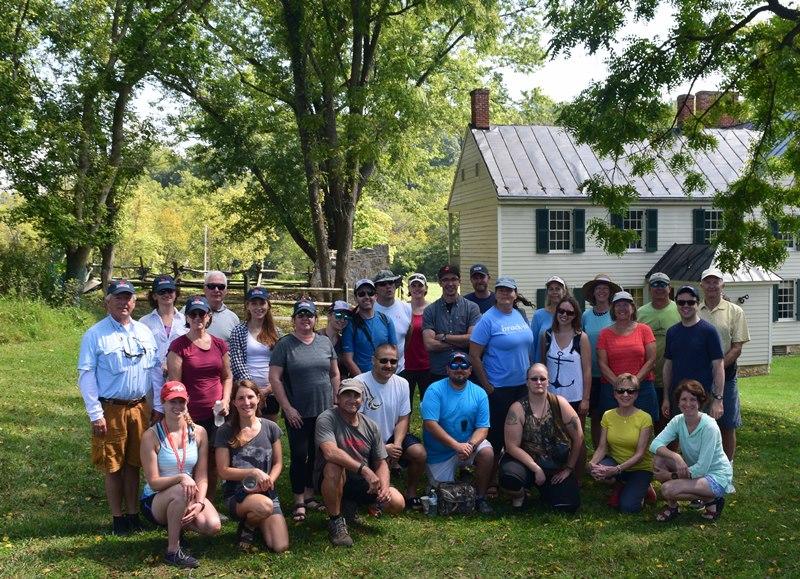 Antietam Creek Kayak group on the 155th anniversary of the battle.