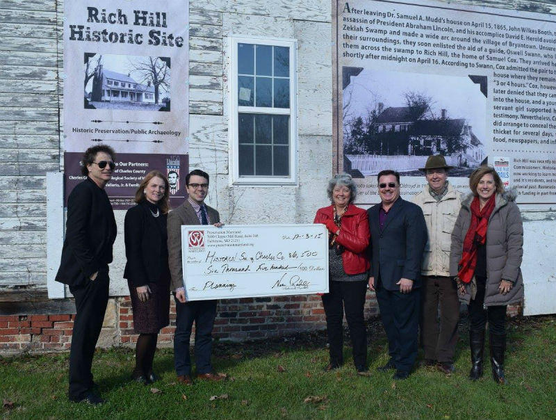 Heritage Fund grant presentation to Friends of Rich Hill, 2015.