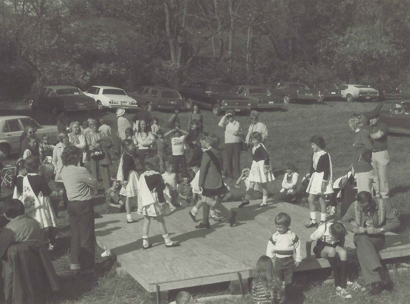 Irish dancers at the Festival, 1983. Photo from Elk Creek Preservation Society.