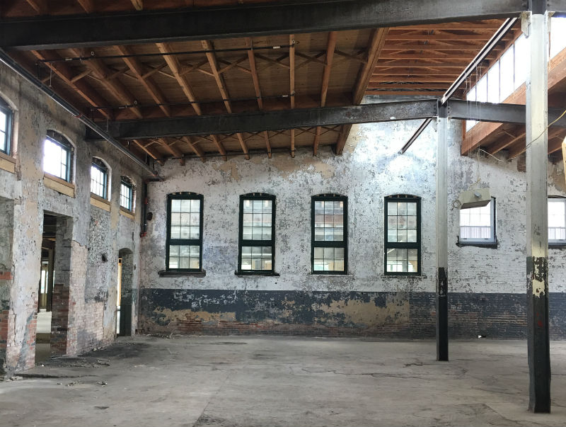 Framing A Metal Building Interior : Preservation maryland transforming the parker metal building