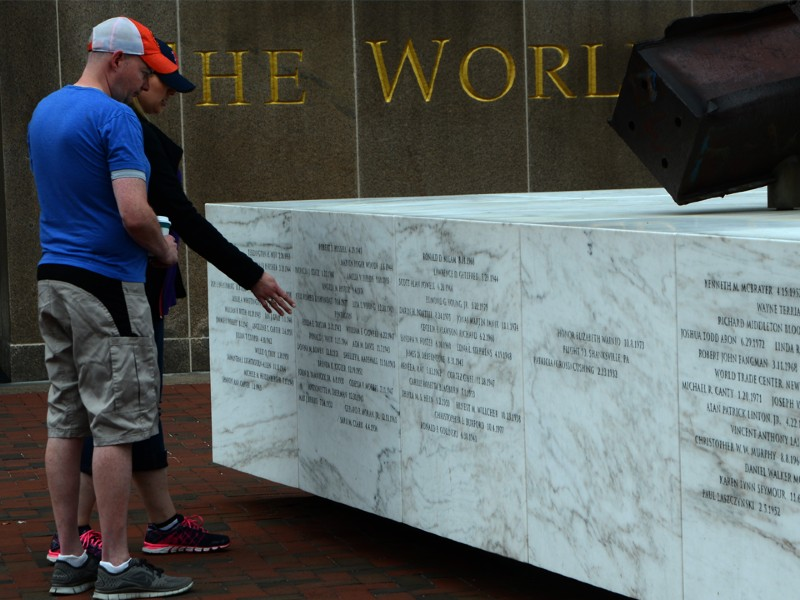 The names of Marylanders lost are etched on the 9/11 Memorial.