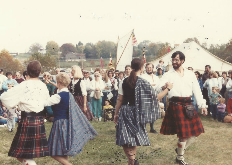 Royal Scottish Country Dancers at the Festival, 1988.
