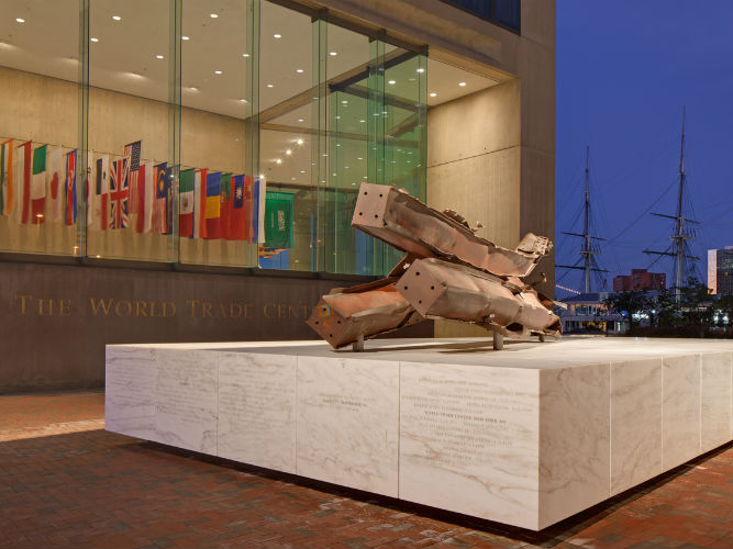 Baltimore's 9/11 Memorial. Design and photo by Ziger/Snead Architects.