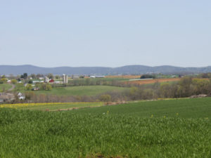 View of South Mountain Battlefield from Shafer Farm.