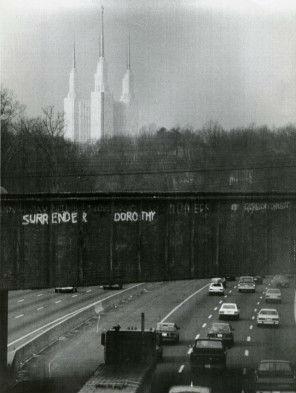Copycat graffiti from 1986. Photo from The Washington Post.