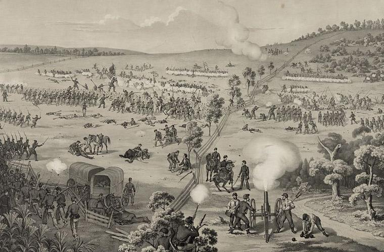 The Kanawha Division in Action at South Mountain Battlefield. Library of Congress.