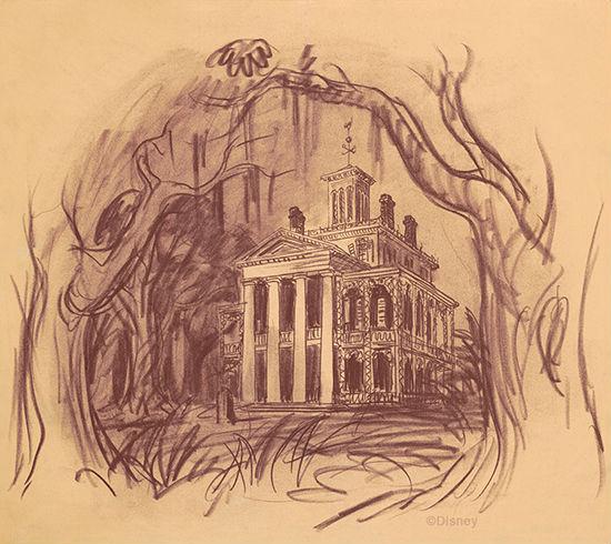 Original Haunted Mansion concept by Disney imagineer, Ken Anderson.