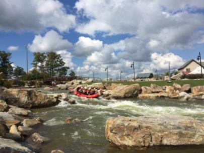 Whitewater course on Wisp Mountain, Garrett County, MD.