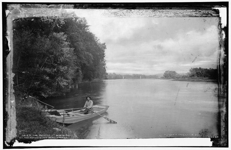 The Potomac River at Berlin, now Brunswick, MD, ca. 1890. Photo from Library of Congress.