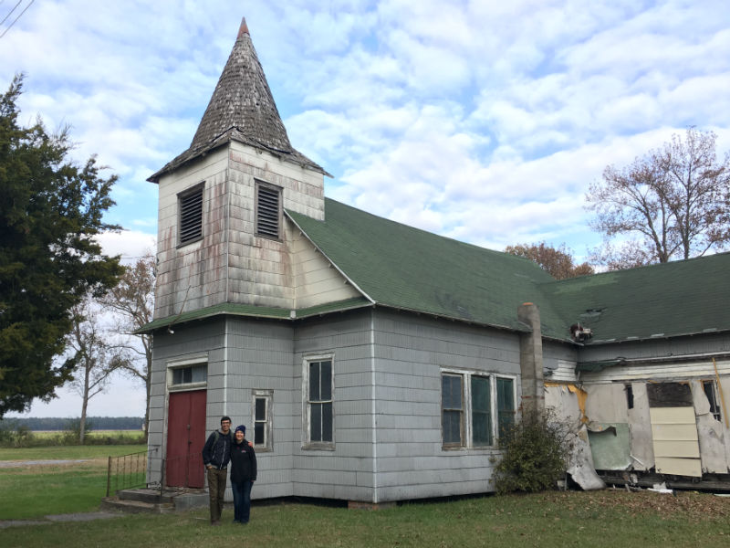 Preservation Maryland at Malone's Church, 2017.