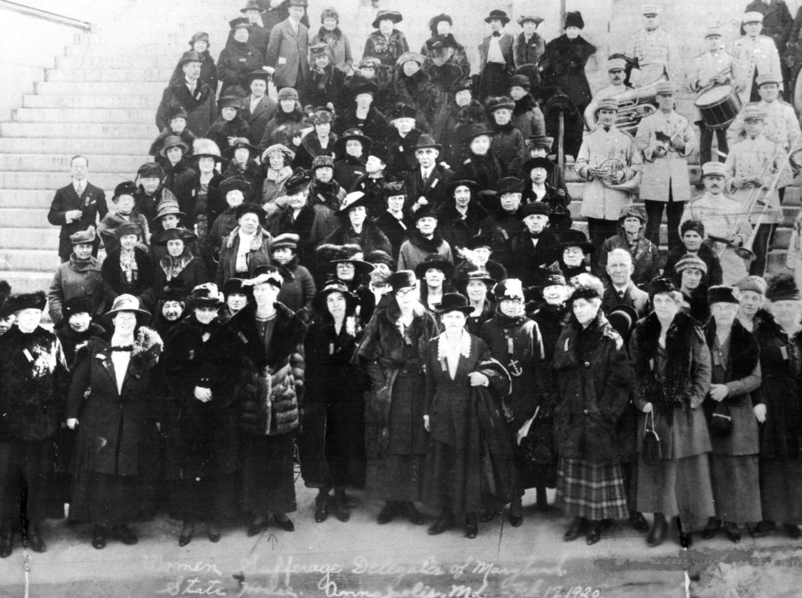 Maryland's Suffragists in Annapolis, 1920.