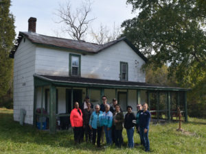 Preservation volunteer workday in Charles County, 2017.