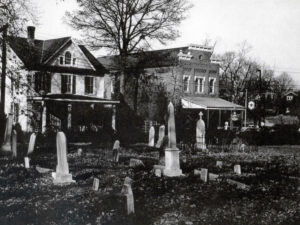 The Welsh house and Store looking through St. Mary's cemetery. Photo courtesy of Peerless Rockville.